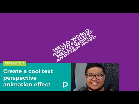 Create a cool text perspective animation effect in Webflow — Tutorial (2021)