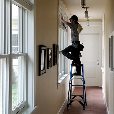 Cleaning windows in Fort Collins