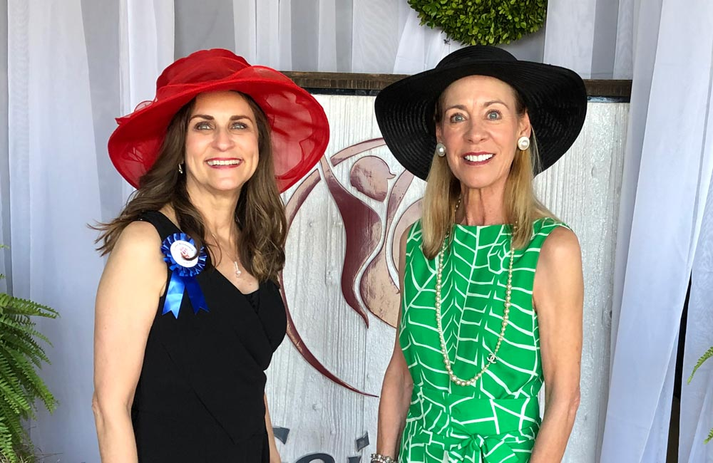 Susan Thompson and Lynne Broussard