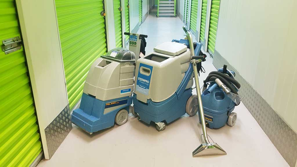 photo of a suite of professional cleaning machines