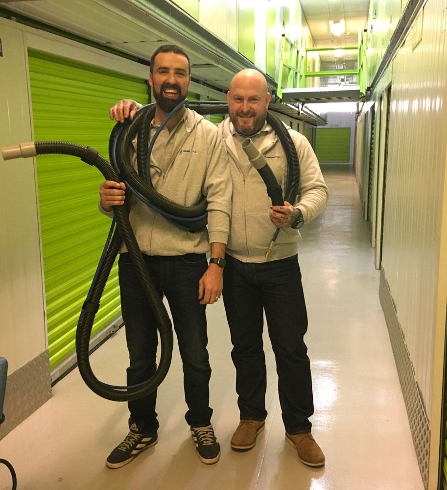 photo of Rob Gyll & Jason Barnett in their warehouse