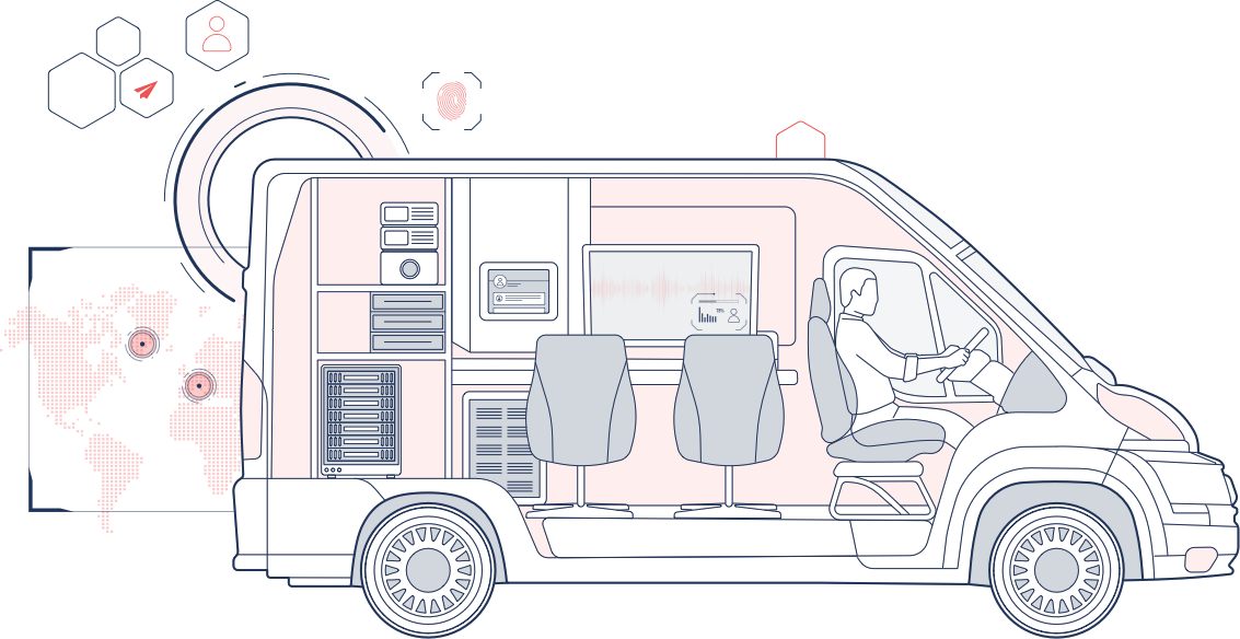 Surveillance van illustration