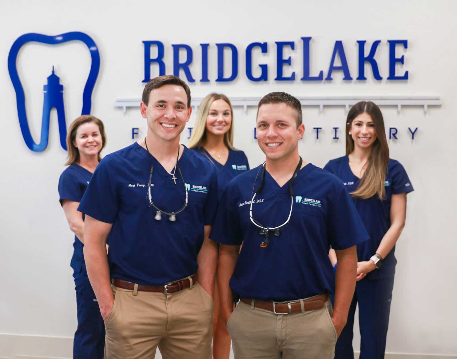 group photo of the Bridgelake staff