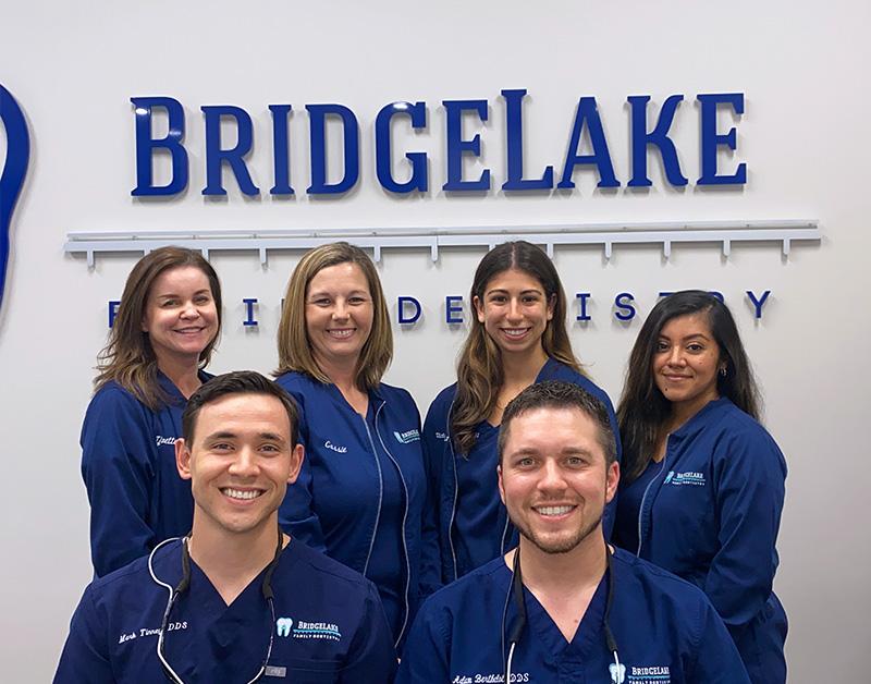 group photo of the Bridgelake staff