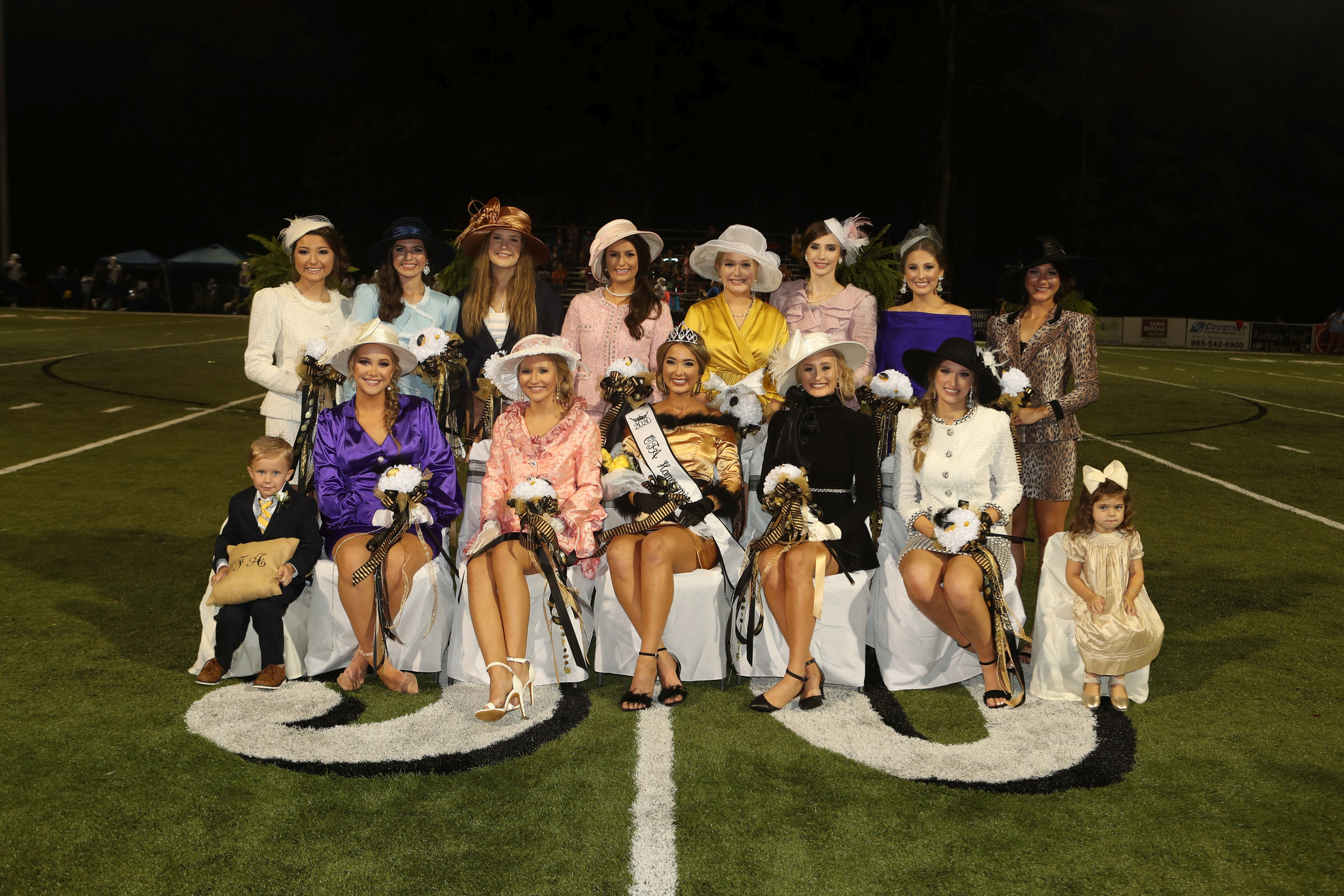 Oak Forest Academy Homecoming Queen and her Court 2020.