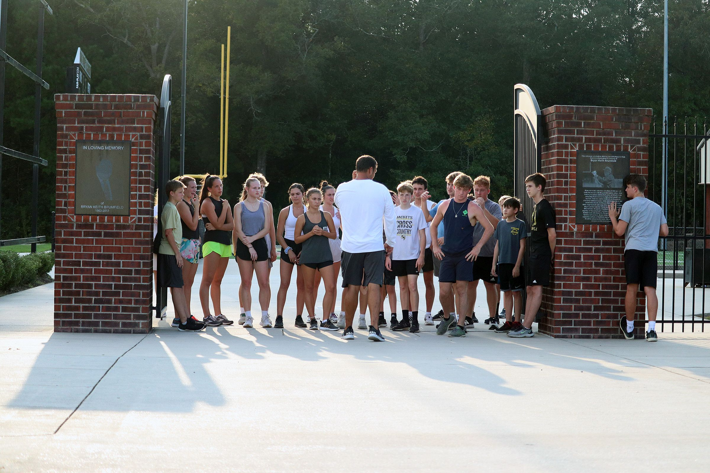 Oak Forest Academy Cross Country Teams.