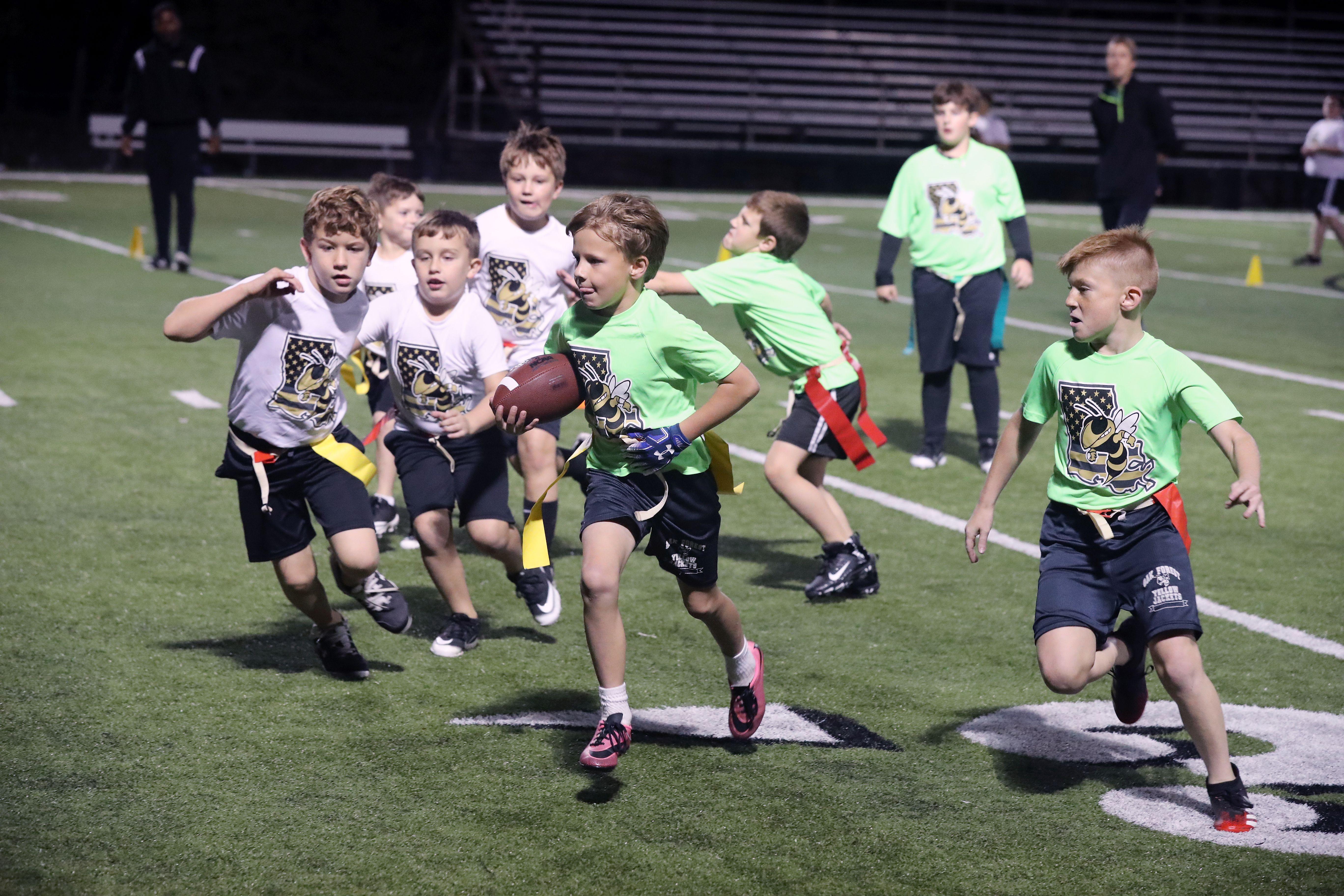 Oak Forest Academy Elementary Flag Football.