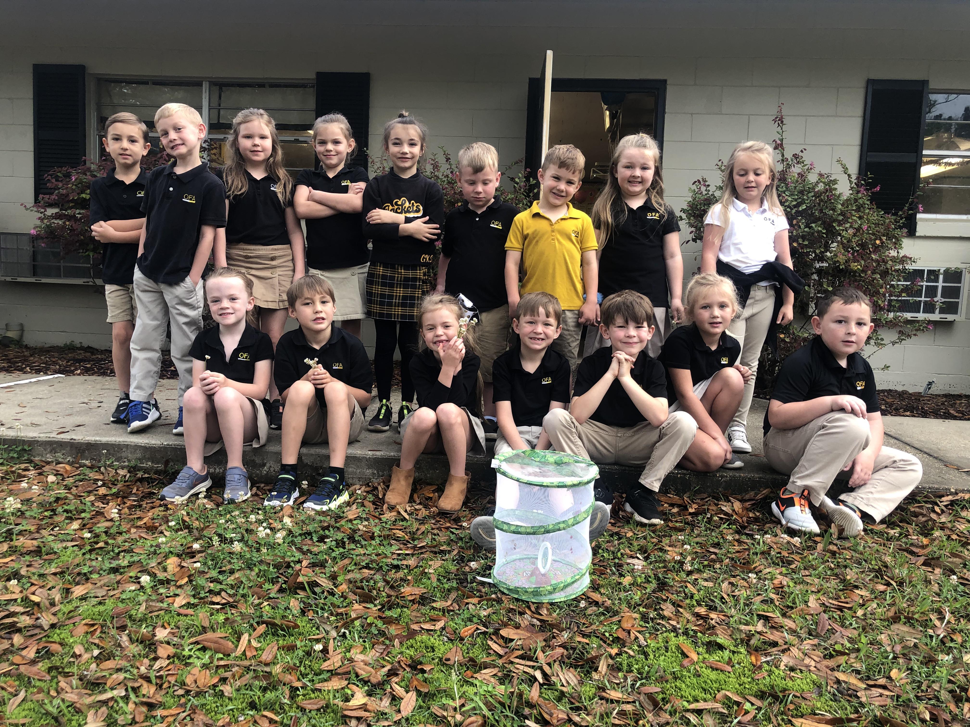 Kindergarten learning all about butterflies!