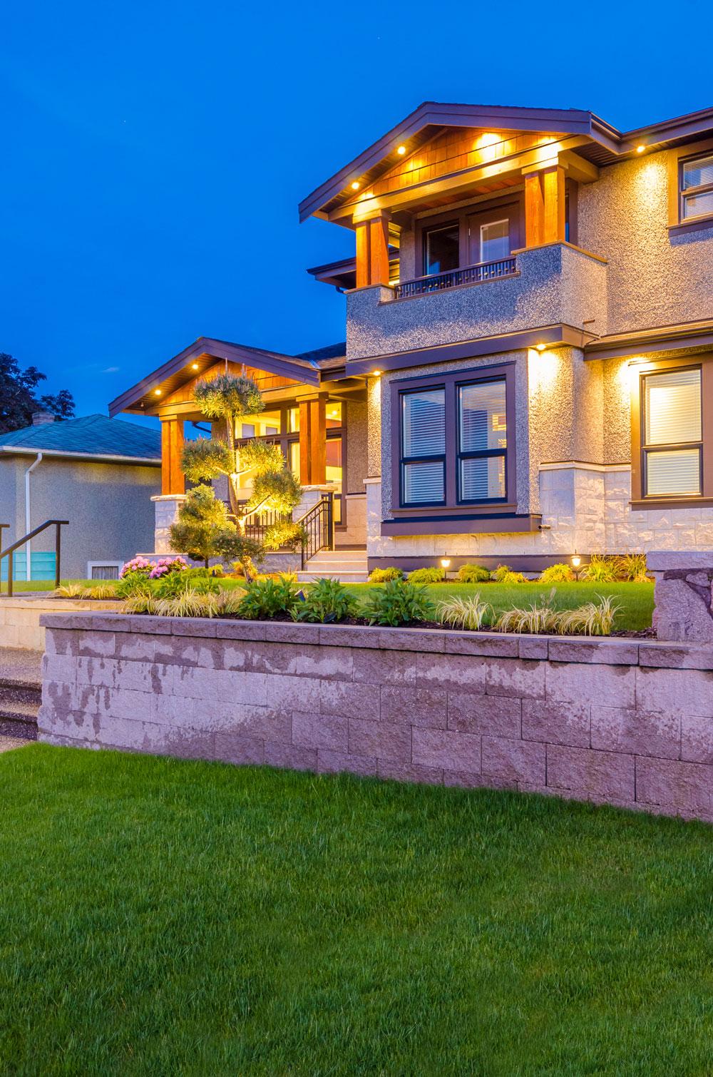Outdoor lighting in home