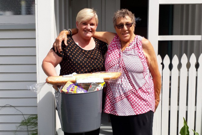 Tenancy Manager Judi Little with Ethel Smith