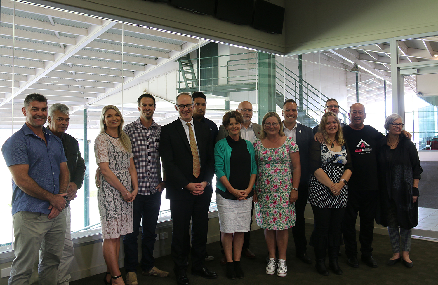 Hon Phil Twyford, Vicki McLaren and other members of the Housing Forum
