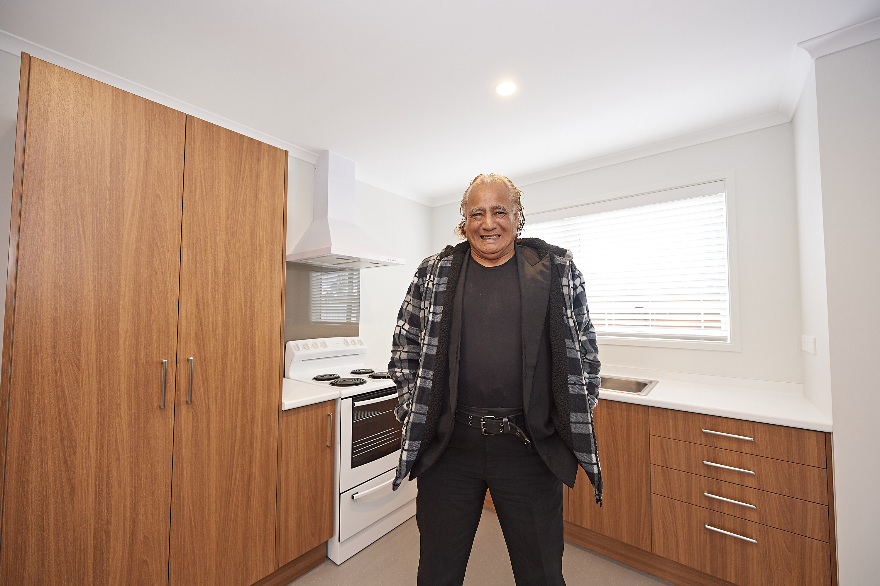 Future tenant Raymond Holloway in his new home