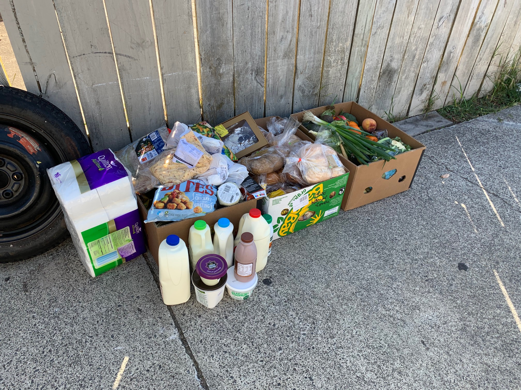A food parcel delievered by Accessible Properties to a tenant