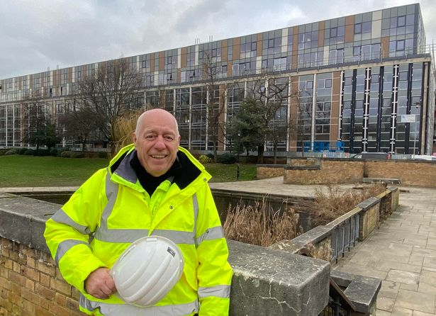The hard working Hull man who at 73 years old has just started a new job at a big city development
