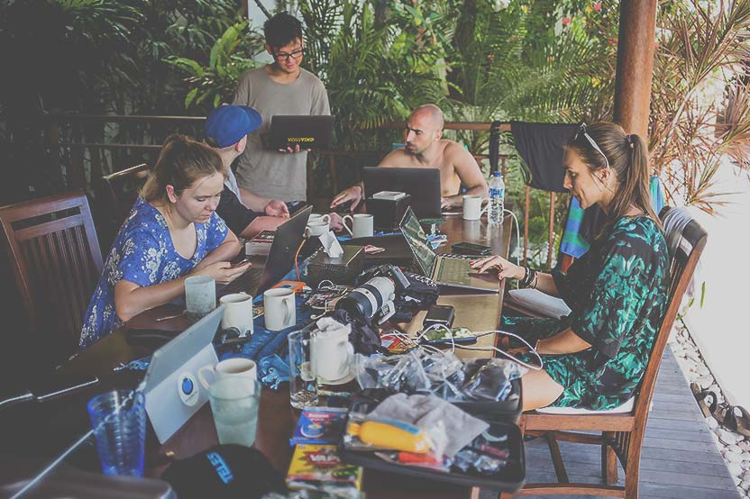 Foto Co-Working Teilnehmer Super StartUp Adventure Camp Bali