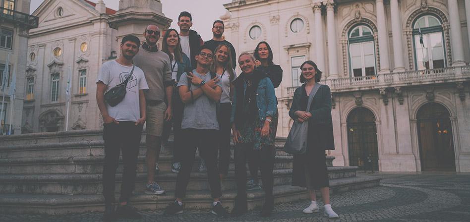 Gruppenfoto Super StartUp Adventure Camp Lissabon