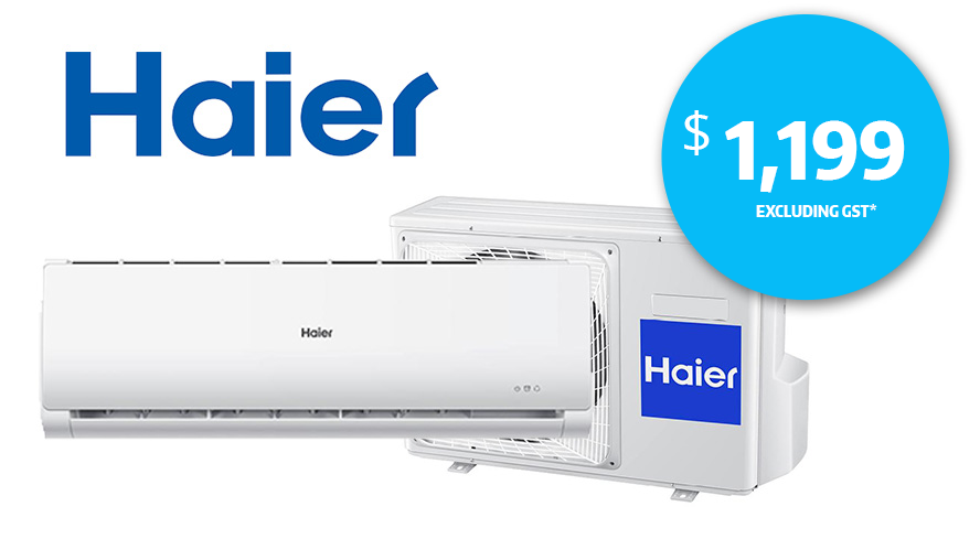 A Haier 2.6kw Inverter Reverse Cycle Split Air Conditioner for $1199