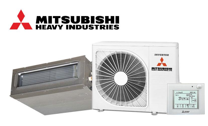 A mitsubishi air conditioning system set