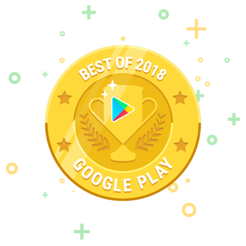 Drops, selected Best App of 2018 by Google Play