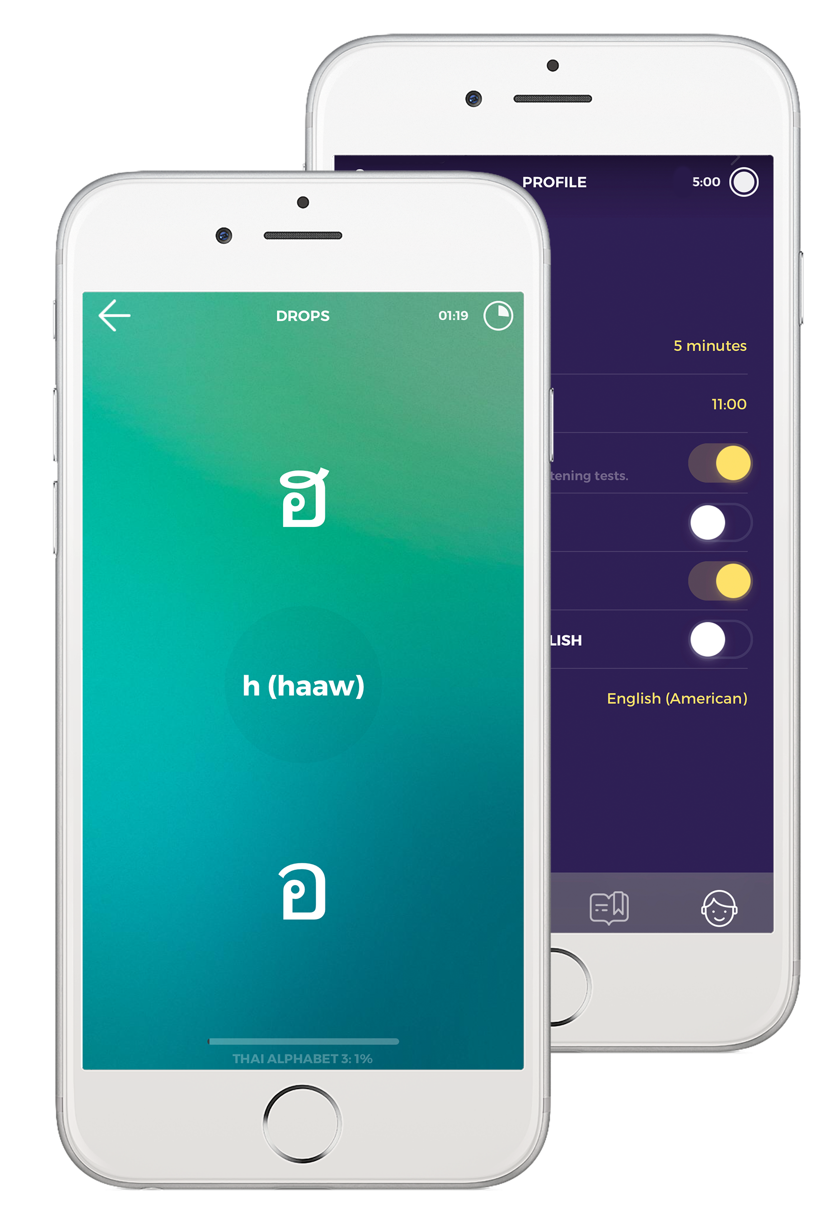Learn Thai with Drops in 5 minutes a day