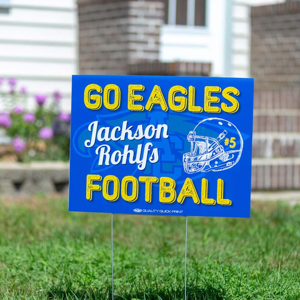 eagles yard sign