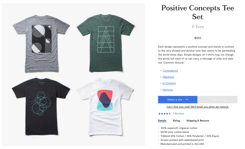 1a51e735e32a Ugmonk gives a great example of bundle pricing in the photo above. They  sell a set of 4 t-shirts for $100 (or $25 each), as opposed to their normal  pricing ...