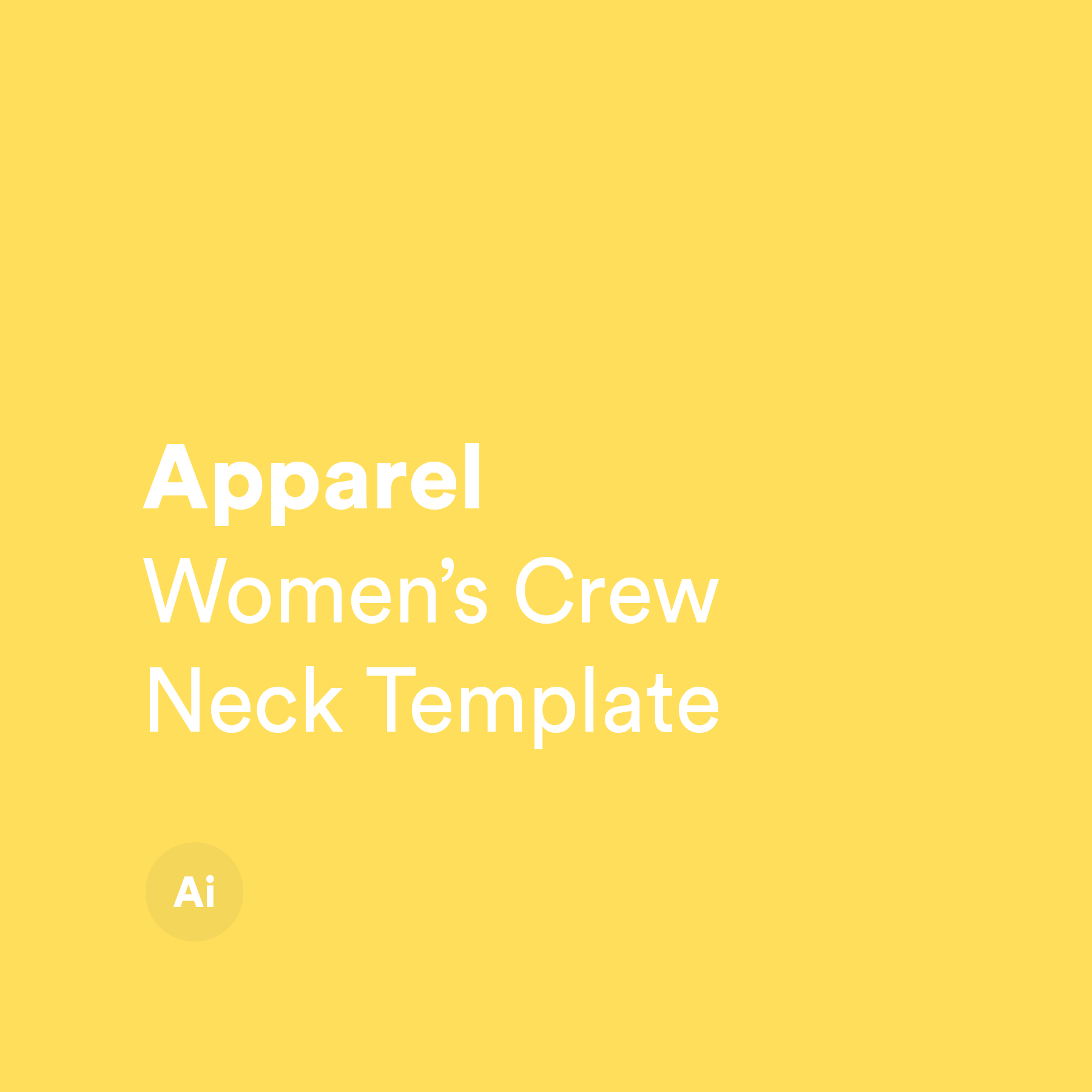 Women's Crew Neck Template