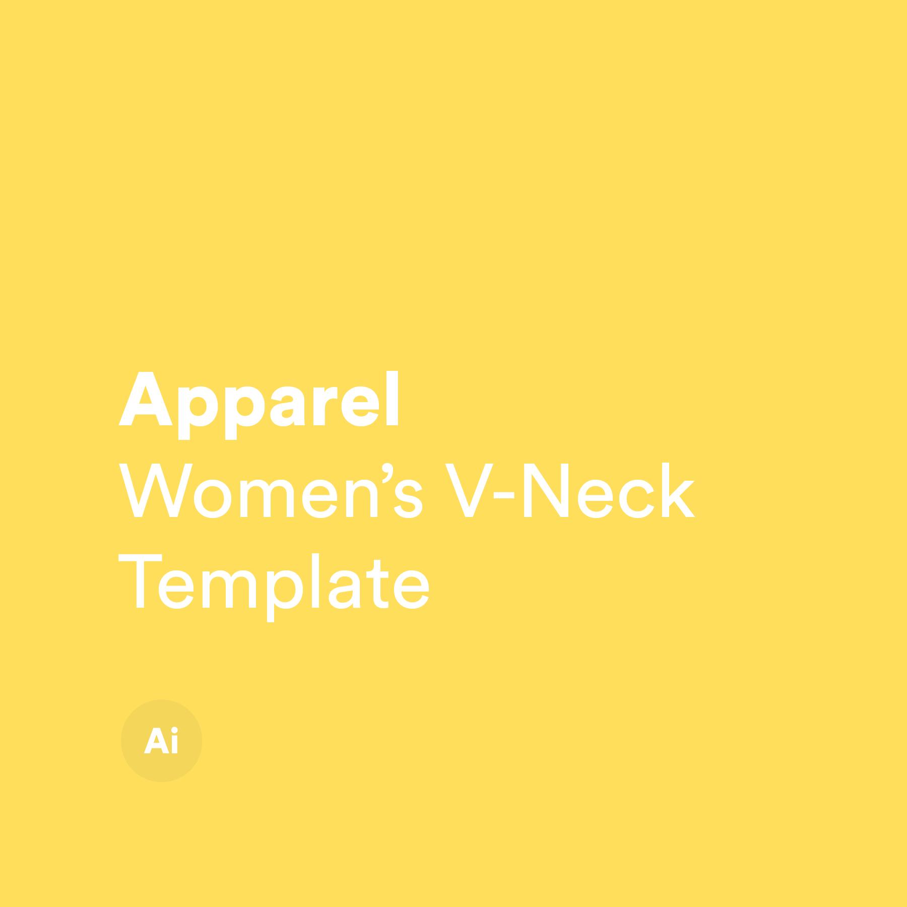 Women's V-neck Template