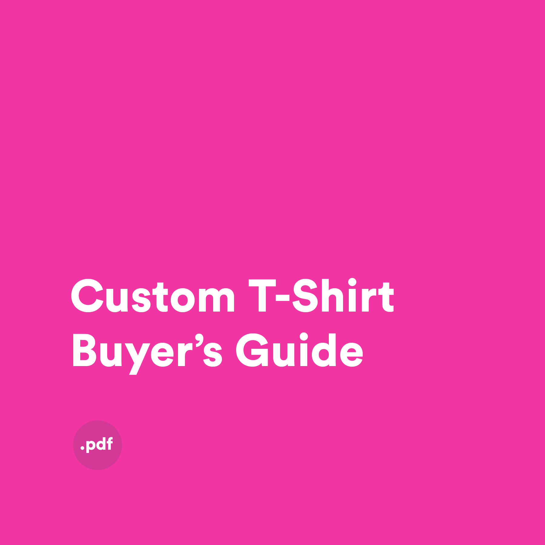 Custom T-Shirt Buyer's Guide