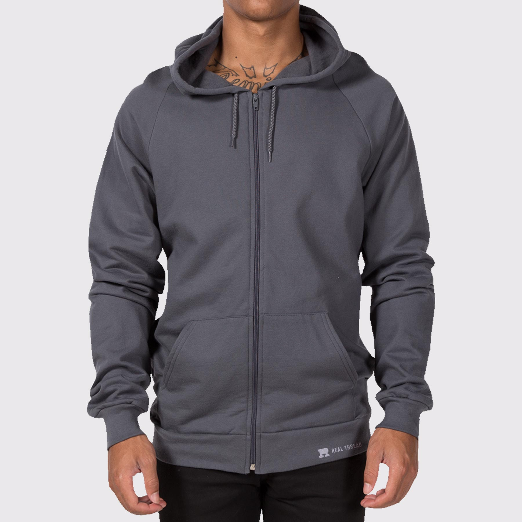 American Apparel 5497 Hoodie Template Modeled
