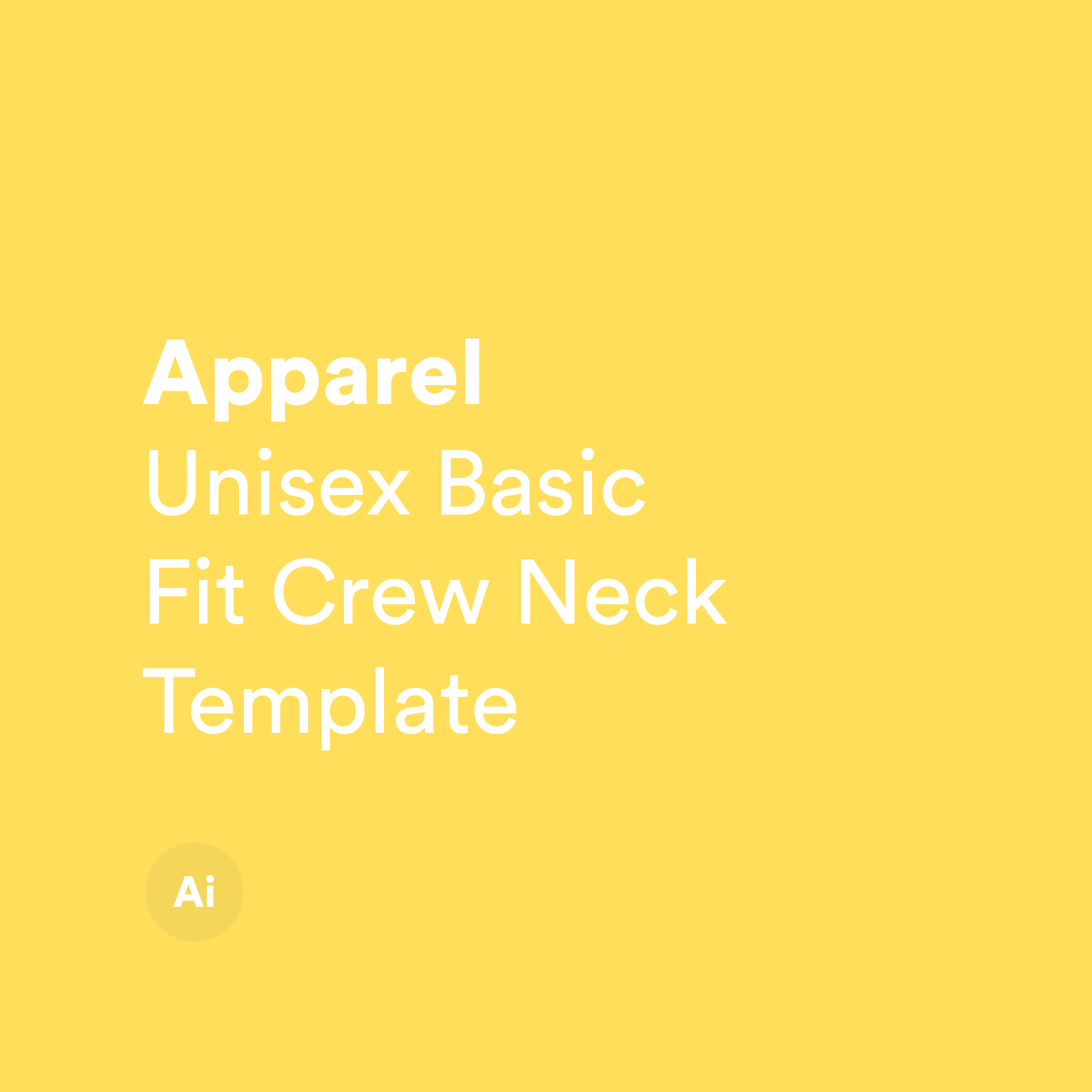 Unisex Basic Fit Crew Neck Template