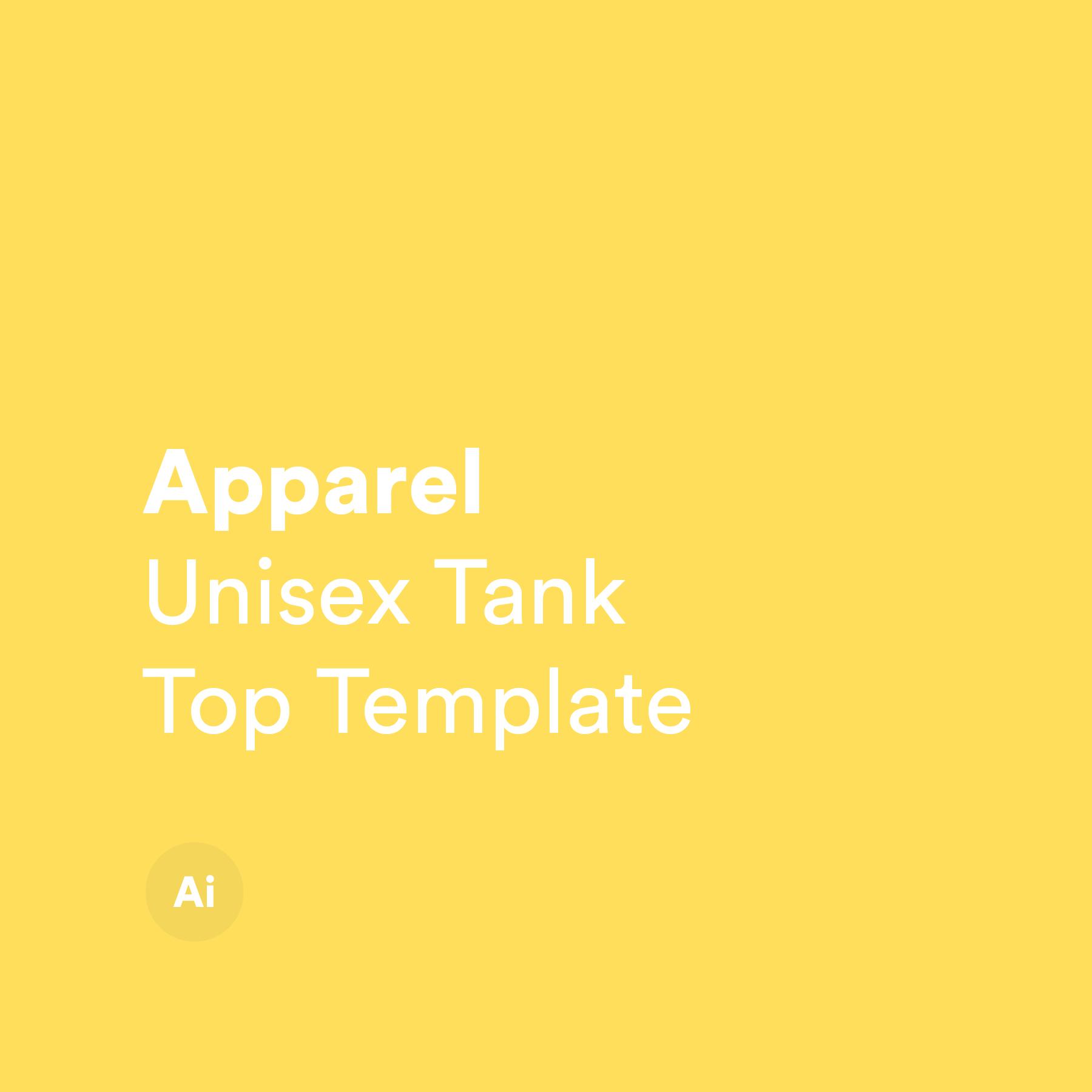 Unisex Tank Top Template