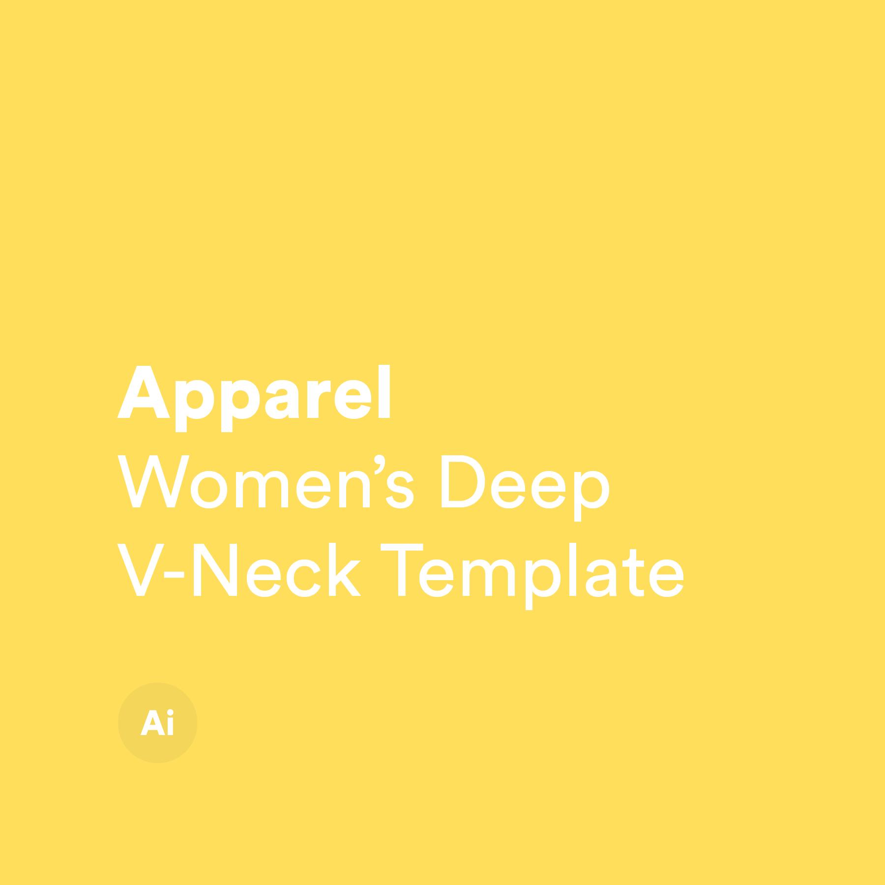 Women's Deep V-Neck Template