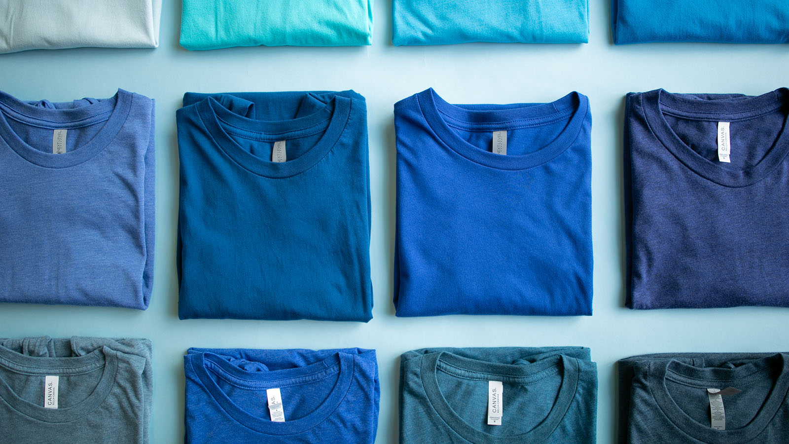 T-Shirt Color Palette: Shades of Blue