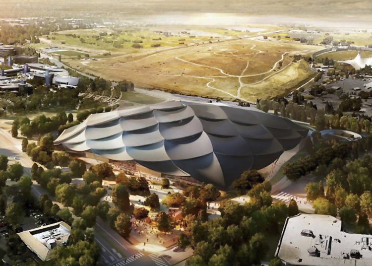 Google's giant tent-like structure is not your standard building.
