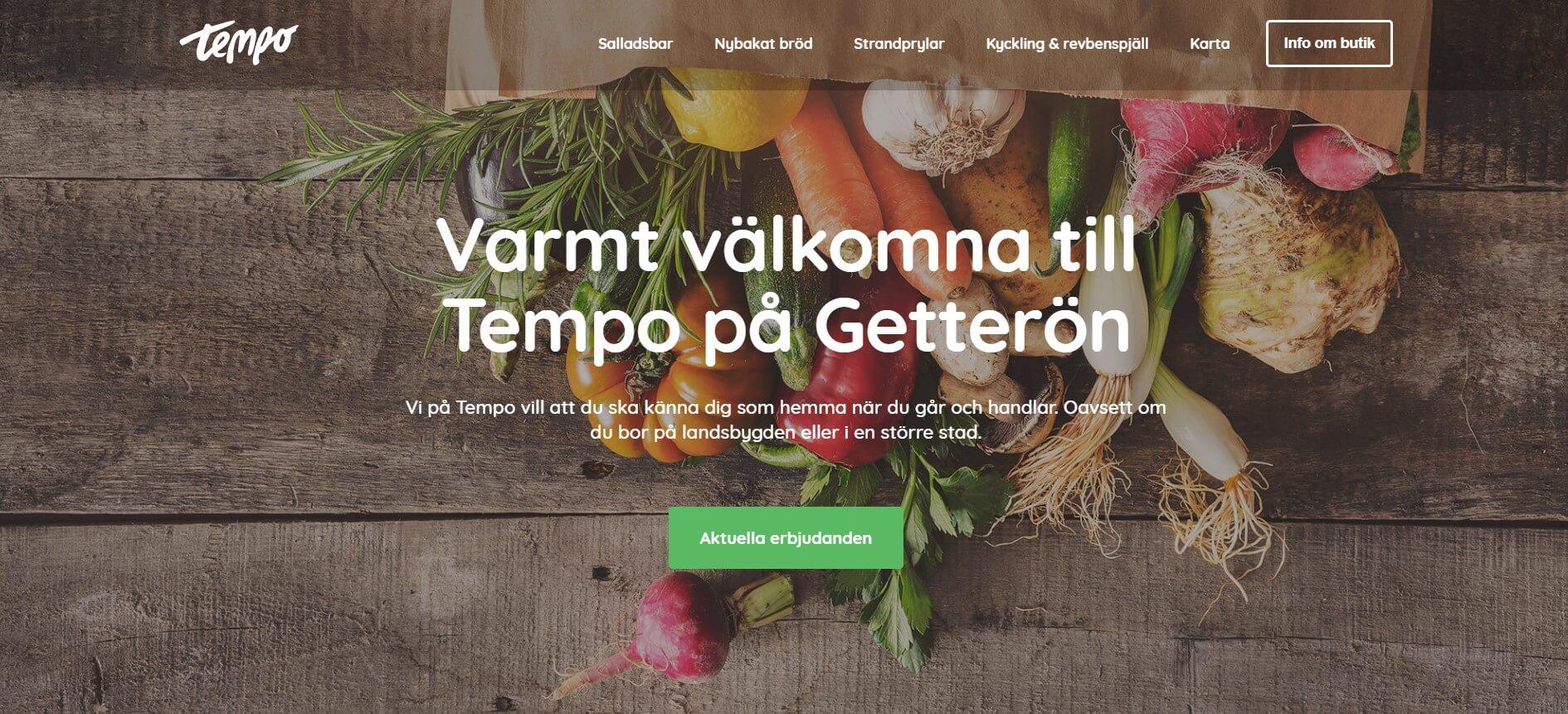 Tempo på Getterön en lokal och trevlig närbutik