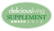 Delicious Living Supplement Award Winner 2015 & 2013
