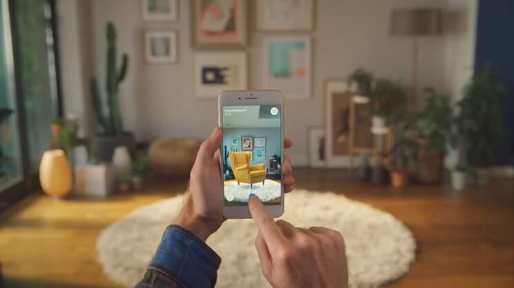 Ikea's app used to augment furniture at home