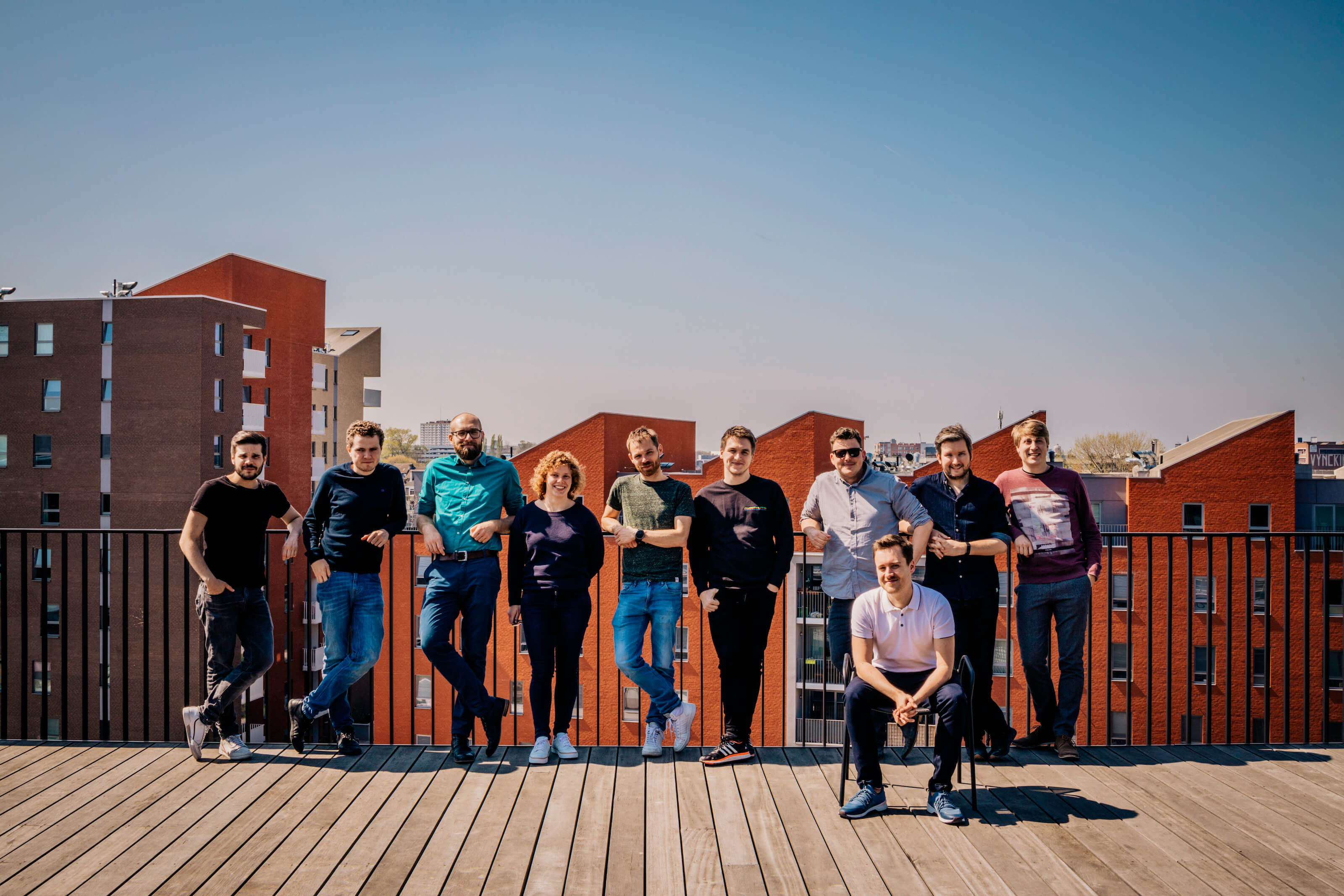 The In The Pocket Design Systems team on the terrace