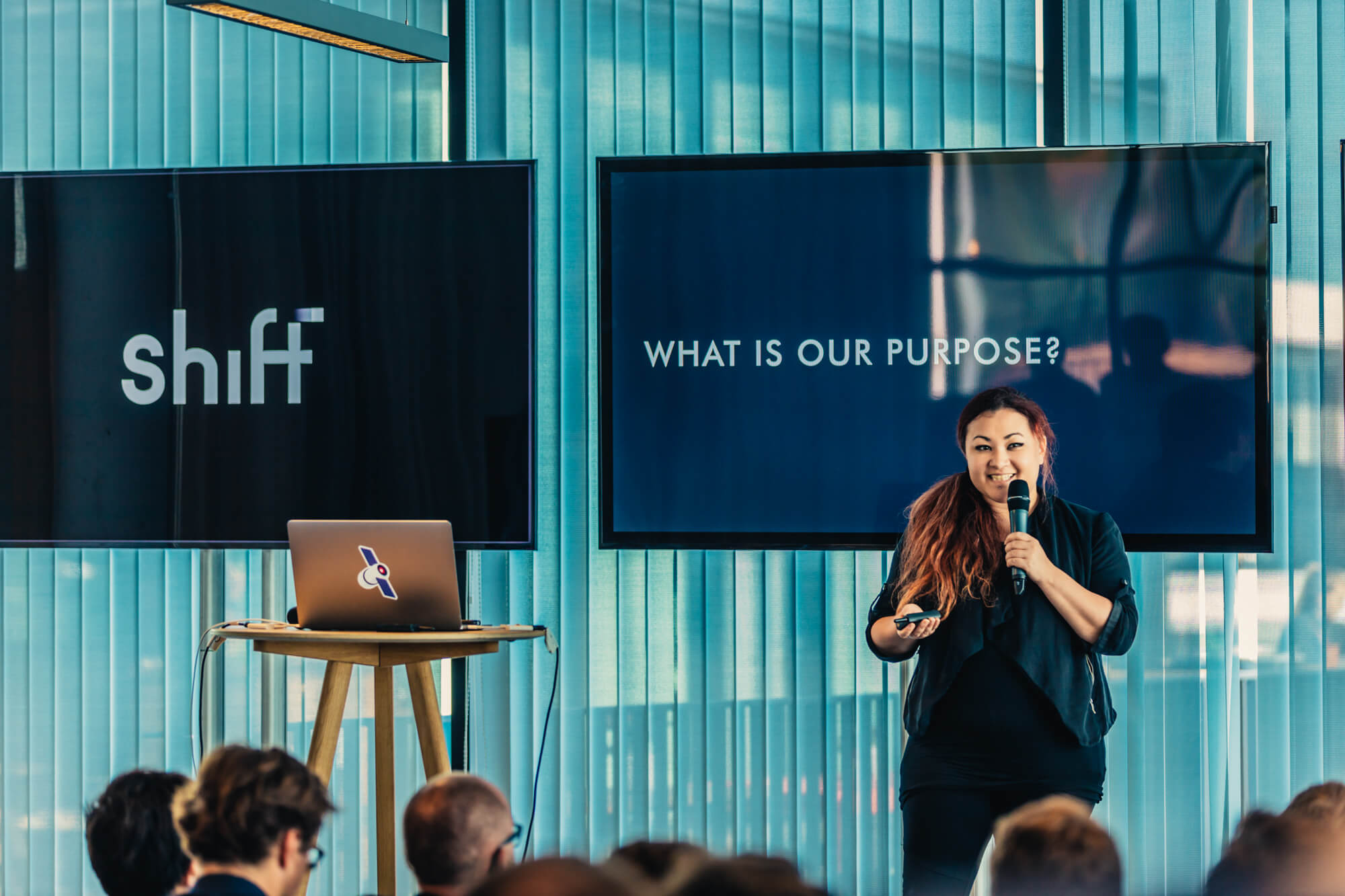 Jona Anne presenting during 'Shift'