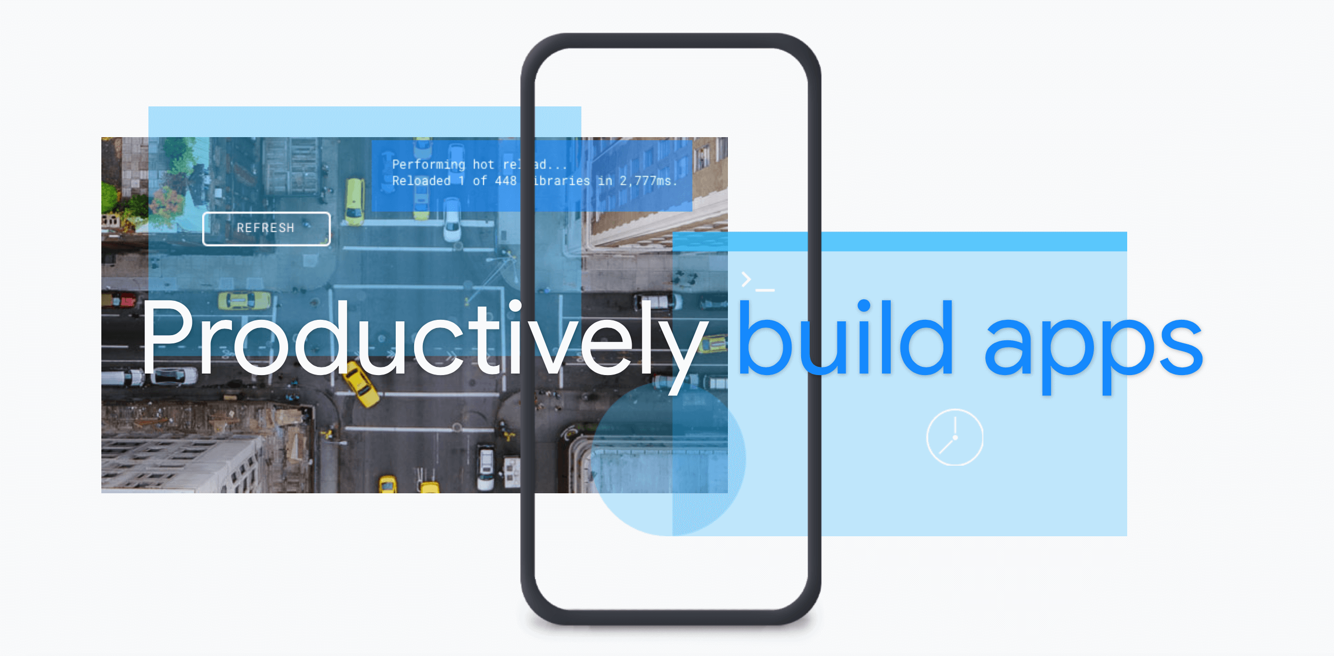 With Flutter you can Productively build apps