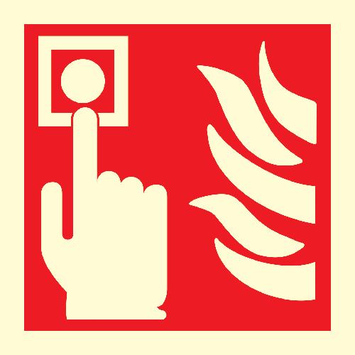 Brannmelder skilt