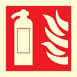 Brannslokker skilt