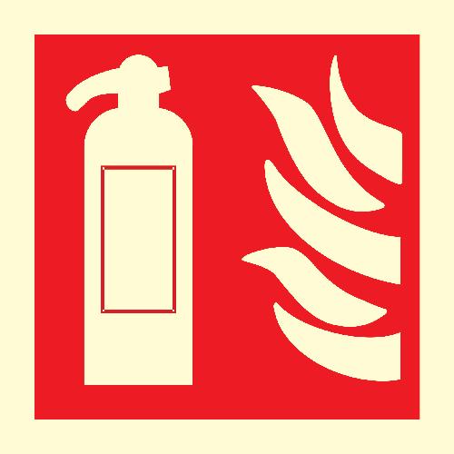 Brannskilt: Brannslokker skilt