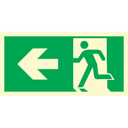 Løpende mann, pil venstre