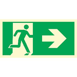 Løpende mann, pil høyre
