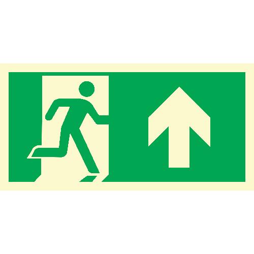 Løpende mann, pil opp