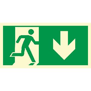 Løpende mann, pil ned