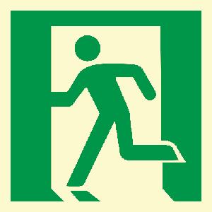 Løpende mann, venstre