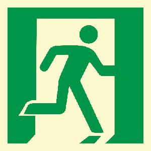 Løpende mann, høyre